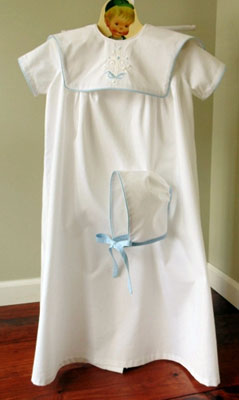 Blue Gown with Cross