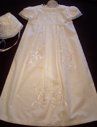 Bow Cross Christening Gown