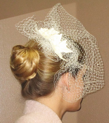Ivory Russian Netting Headpiece