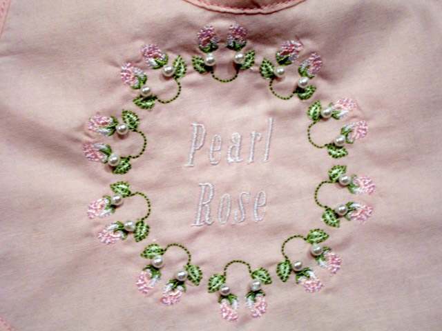 pearl rose monogram