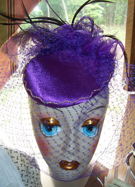 Purple Veiled Hat