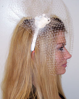 White Russian Netting Headband